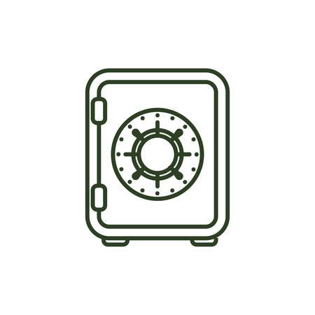 classified: Money strongbox deposit icon vector illustration graphic design Illustration