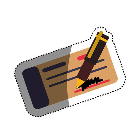 chequera: Bank check money icon vector illustration graphic design