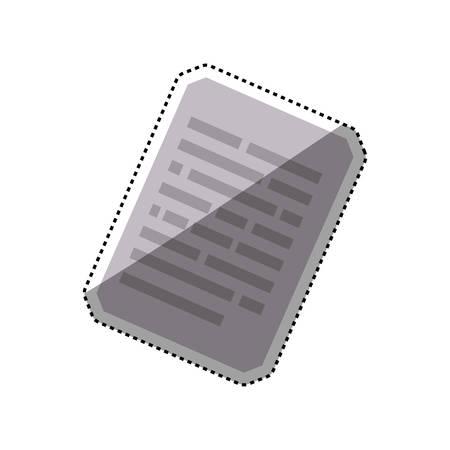 sheet document paper vector illustration graphic design Illustration
