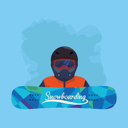 Snowboarding and winter sports vector icon symbol,