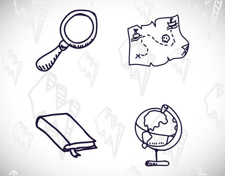 science class and school scribbles cartoons drawing vector