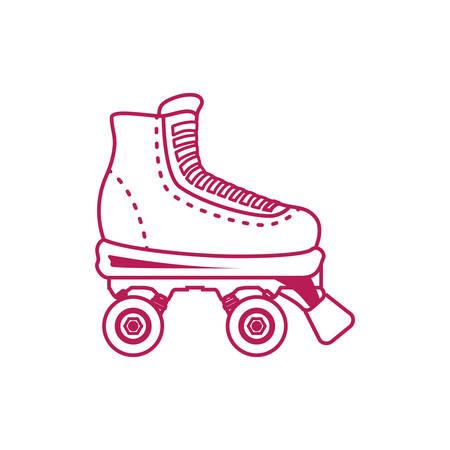 Rodillos y patines de hielo vector de deporte, ilustración, icono Ilustración de vector