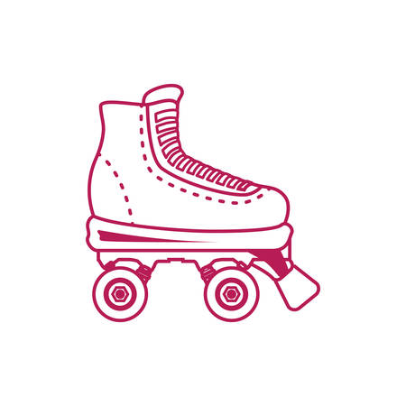 Rollers and ice skates sport vector,illustration, icon Illustration