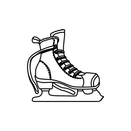 rulos: Rodillos y patines de hielo vector de deporte, ilustración, icono