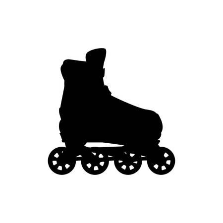 Rodillos y patines de hielo vector de deporte, ilustración, icono