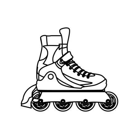 Rolki i łyżwy sportu wektor, ilustracja, ikona Ilustracje wektorowe