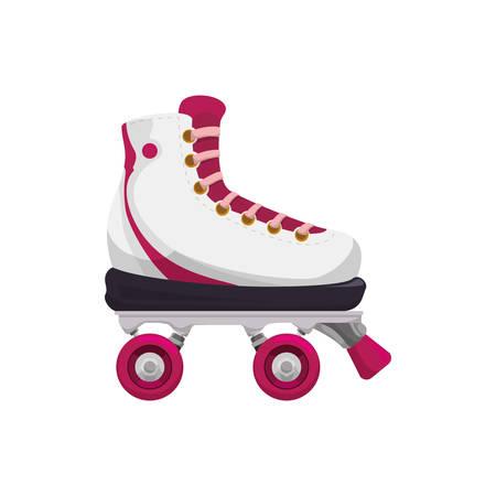 Rollers and ice skates sport vector,illustration, icon Ilustração