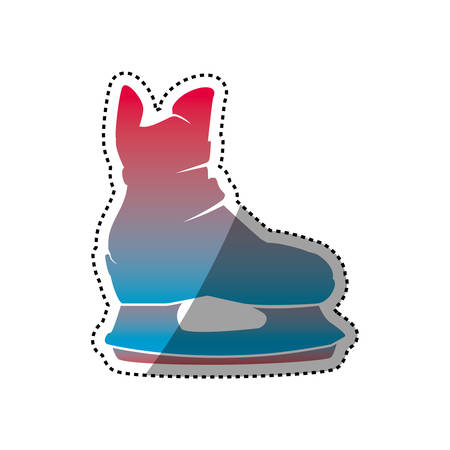 Rollers and ice skates sport vector icon Illustration