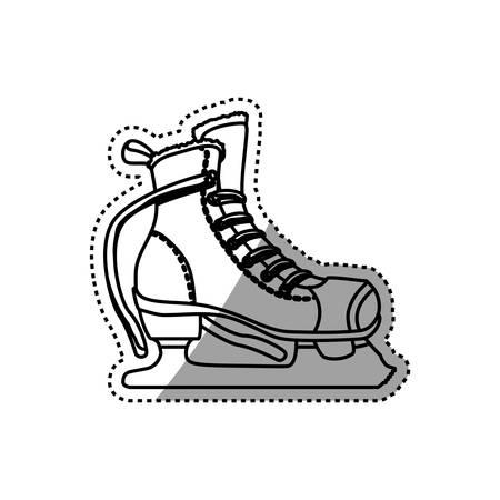 rulos: Rodillos y patines de hielo deporte vector icono Vectores