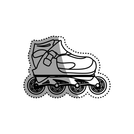 rulos: Rollers and ice skates sport vector icon Vectores