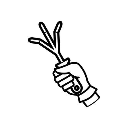 Rake gardening tool icon vector illustration graphic design