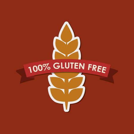 intolerancia: Gluten free label icon vector illustration graphic design