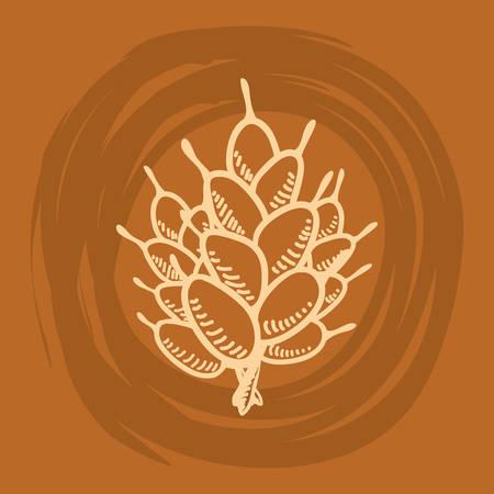 produits céréaliers: Blé alimentation naturelle icône vector illustration design graphique Illustration