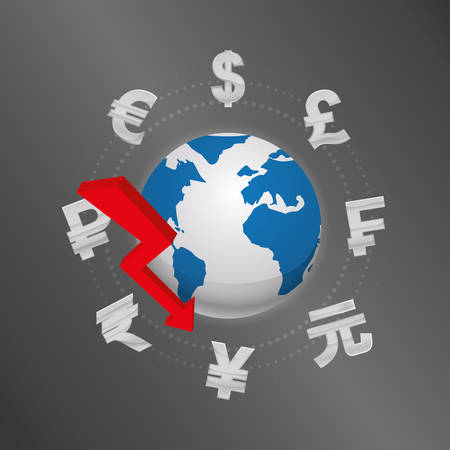 Global money economy icon vector illustration graphic design