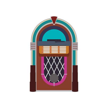 Jukebox vintage rockola icon vector illustration graphic design