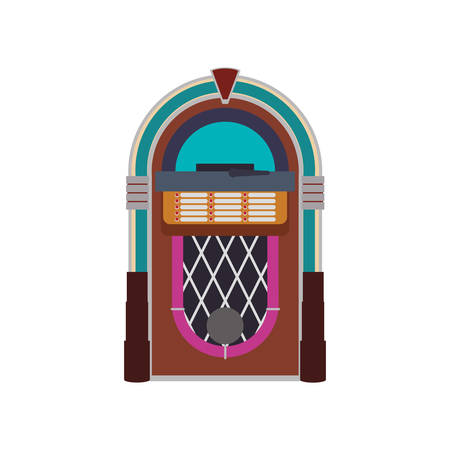 Jukebox vintage rockola icon vector illustration graphic design