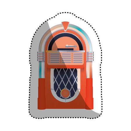 Jukebox vintage icon vector illustration graphic design Illustration
