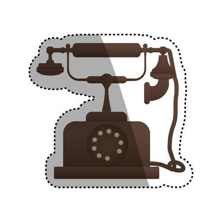 Vintage antique telephone icon vector illustration graphic design Illustration