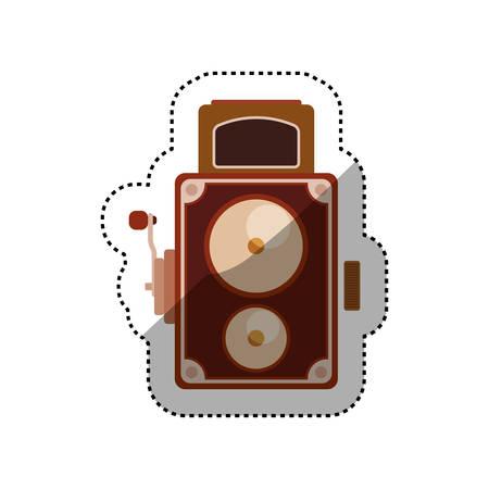 Vintage retro videocamera icon vector illustration graphic design