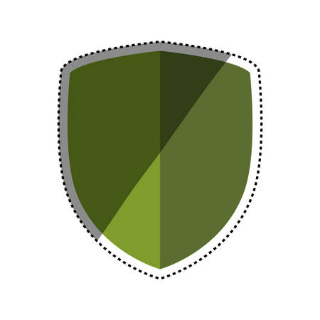 secured: Shield security symbol icon vector illustration graphic design