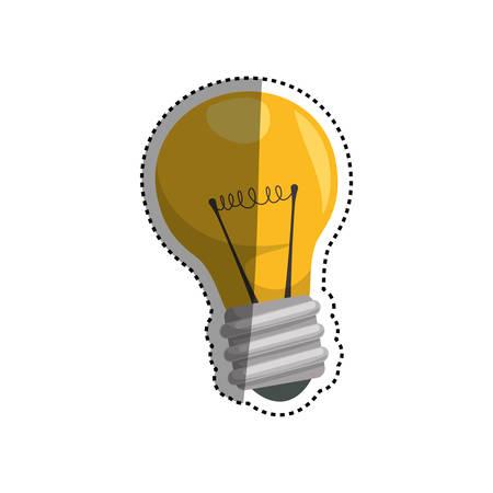 Bulb and creative ideas icon vector illustration graphic design
