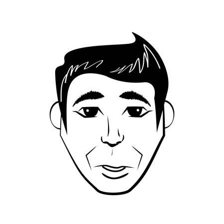 business man comic outline vector illustration eps 10