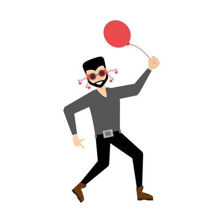 man party dance celebration vector illustration eps 10 Illustration