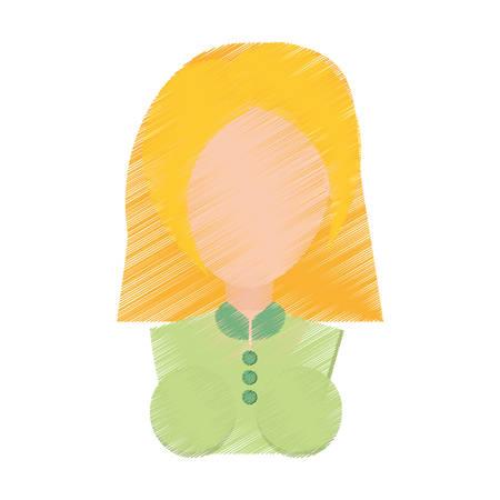 portrait young girl studio: portrait girl celebration gesture vector illustration eps 10