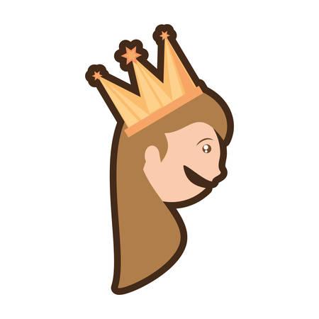 head girl crown celebration vector illustration eps 10