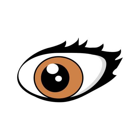 Cartoon eyes comic expression vector illustration eps 10.