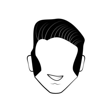 estereotipo: la cabeza del hombre avatar cómica Vectores