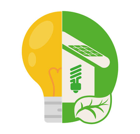 house energy ecology home vector illustration eps 10