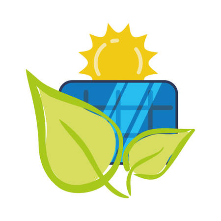 solar panel ecology environment concept vector illustration eps 10 Illustration