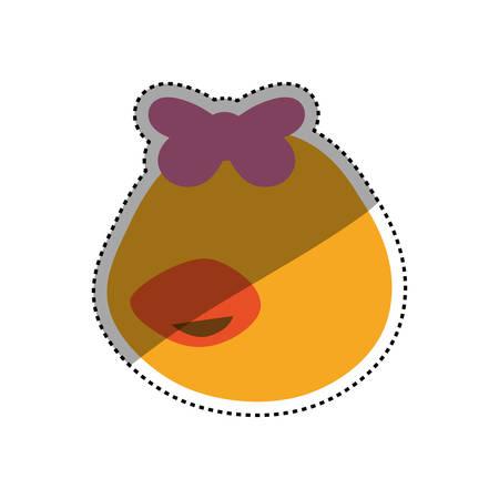 head little duckling cartoon vector icon illustration faceless