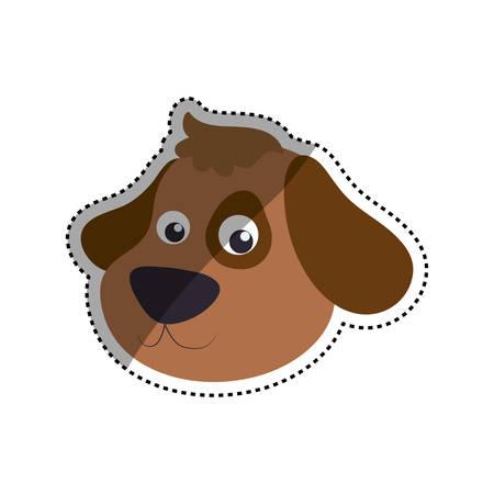 dog cartoon drawing head vector icon illustration Illustration