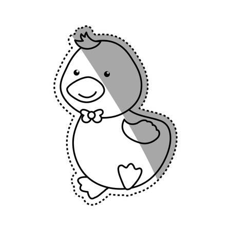 cartoon duck animal infantile vector icon illustration Illustration