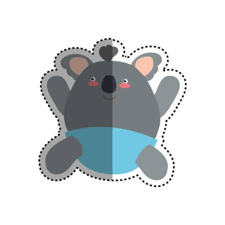 baby koala stuffed animal vector icon illustration