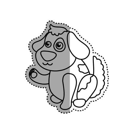 purebred: dog cartoon drawing sitting vector icon illustration Illustration