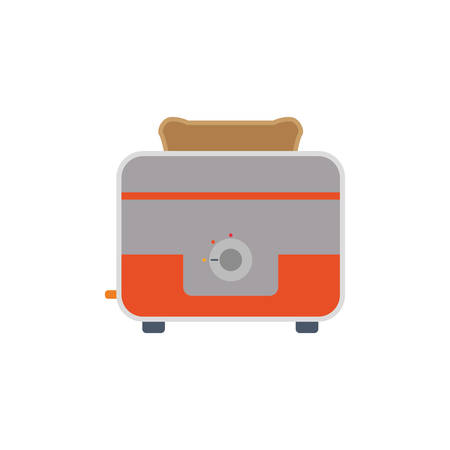 toasted: toaster household appliances vector icon illustration colored