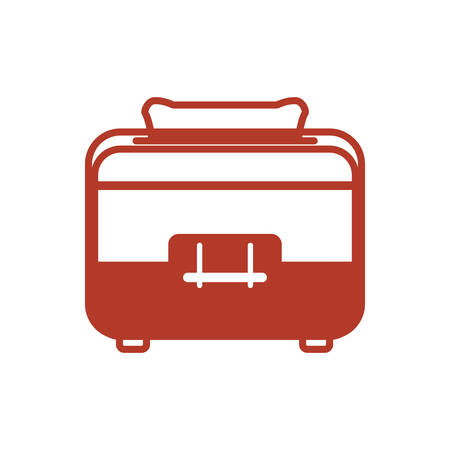 toaster household appliances vector icon illustration colored
