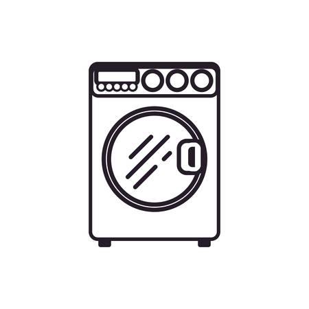 black appliances: washing machine laundry icon vector illustration graphic design Illustration
