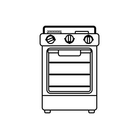 black appliances: stove household appliance icon vector illustration graphic design Illustration