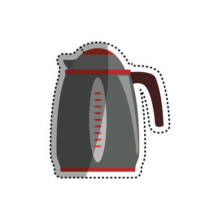 boiler: kettle electric pot household appliance vector icon illustration Illustration