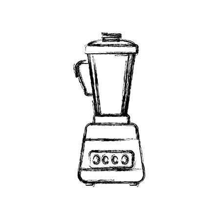 black appliances: blender machine household appliance vector icon illustration Illustration