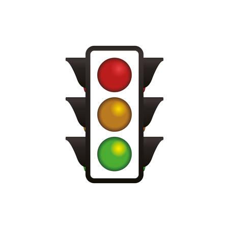 semaphore traffic light post vector icon illustration Illustration