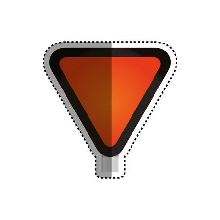 Yield and,Stop Sign blank vector icon illustration
