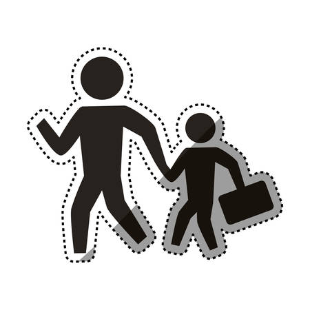 people crossing walking vector icon illustration pictogram