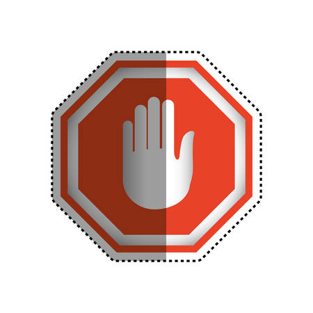 stop sign hand vector icon illustration clipart Illustration