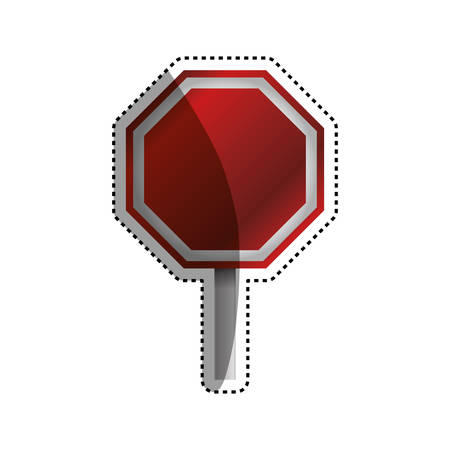 stop sign empty blank vector icon illustration