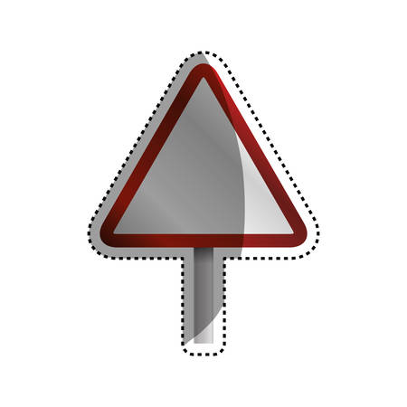 caution sign blank vector icon illustration colored
